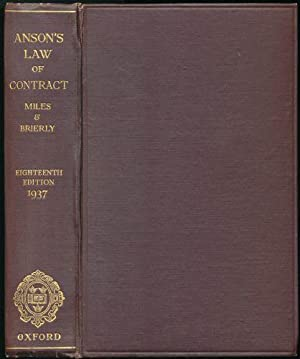 Principles of the English Law of Contract and of Agency in its Relation to Contra