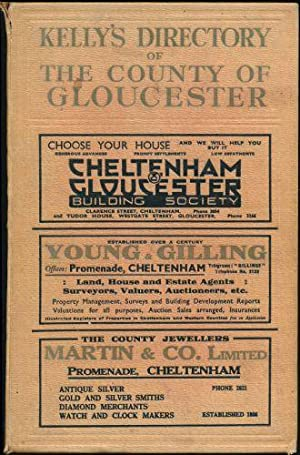 Kelly's Directory of the County of Gloucester (with coloured map). 1939. 19th edition.