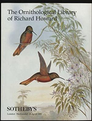 Ornithological Library of Richard Howard, The - Sotheby's Sale L09216 - London, Wednesday, 28 Apr...