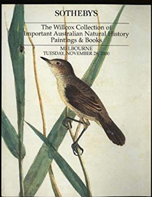 Willcox Collection of Important Australian Natural History Paintings & Books, The: November 28th ...