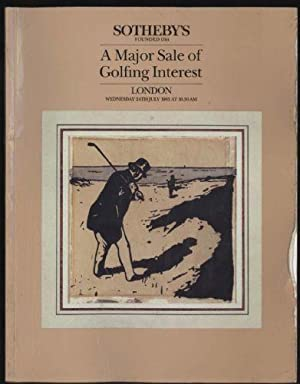Major Sale of Golfing Interest Including Golf Clubs, Golf Balls, Paintings and Works of Art Relat...