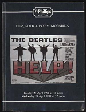 Film, Rock & Pop Memorabilia: Tuesday 23 April and Wednesday 24 April 1991.