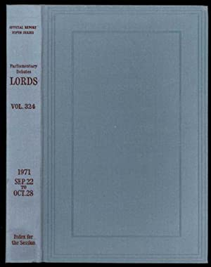 Parliamentary Debates (Hansard); Fifth Series - Volume CCCXXIV. House of Lords Official Report. F...