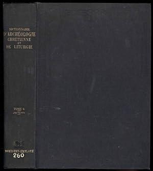 Dictionnaire D'Archeologie Chretienne et de Liturgie. Avec: Cabrol, Le R.