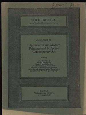 Catalogue of Impressionist and modern paintings and sculpture Contemporary Art: Day of Sale, Wedn...