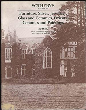 Catalogue of Furniture, Silver, Jewellery, Glass and Ceramics, Oriental Ceramics and Paintings (F...