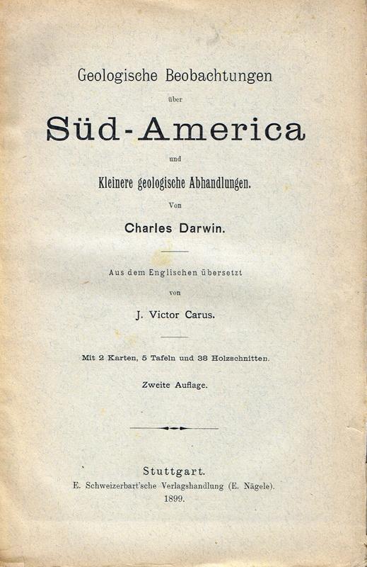 Geologische Beobachtungen über Süd-America / Kleinere geologische: Darwin, Charles: