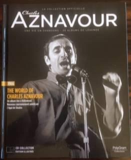 1966 THE WORLD OF CHARLES AZNAVOUR - UN ALBUM LIVE A HOLLIWOOD - LIVRET + CD