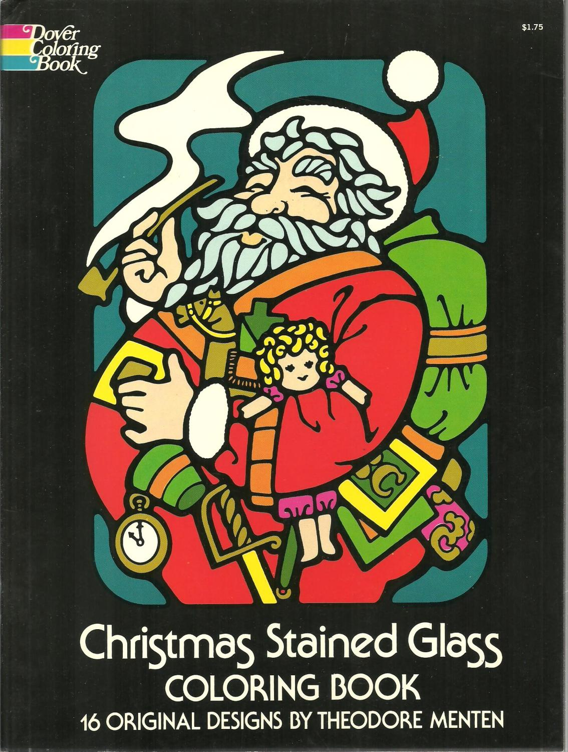 Christmas Stained Glass Coloring Book, 16 ...