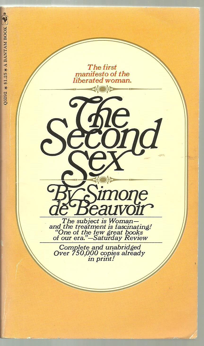 Regret, that second sex simone de beauvoir think, that