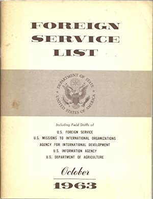 Foreign Service List, October 1963