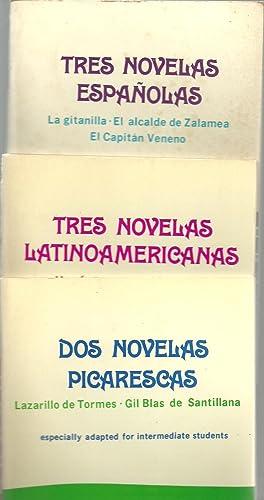 Tres Novelas Espanolas, Tres Novelas Latinoamericanas, Dos Novelas Picarescas - Three Assorted ...