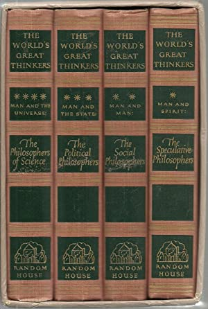 The World's Greatest Thinkers - 4 Volume Set, in slipcase.: Edited by Saxe Commins and Robert ...