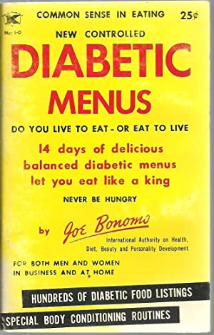 Diabetic Menus: Joe Bonomo