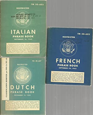 Phrase Book - French, Italian, Dutch (3 assorted volume set)