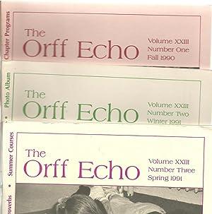 The Orff Echo - 3 Assorted Volumes (Volume XXIII No. 2 Winter 1991/Volume XXIII No. 1 Fall ...