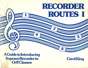 Recorder Routes I : A Guide to: Carol King, Cover