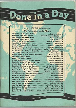 Done in a Day - from the columns of the Chicago Daily News