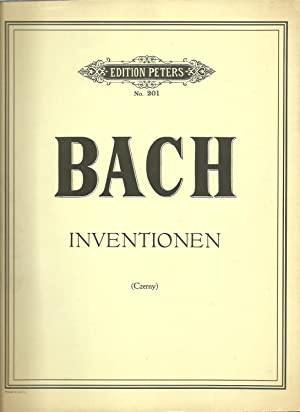 Bach: Inventionen (Czerny) Edition Peters No. 201