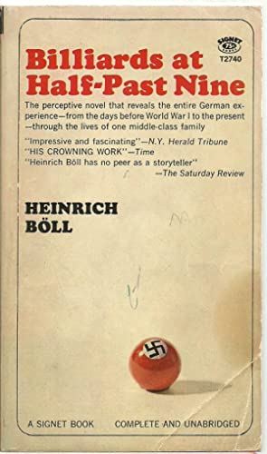 Billiards at Half-Past Nine: Heinrich Boll, Translated from the German