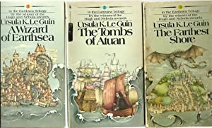 The Earthsea Trilogy - A Wizard of Earthsea, The Tombs of Atuan, The Farthest Shore (3 Volume Set):...