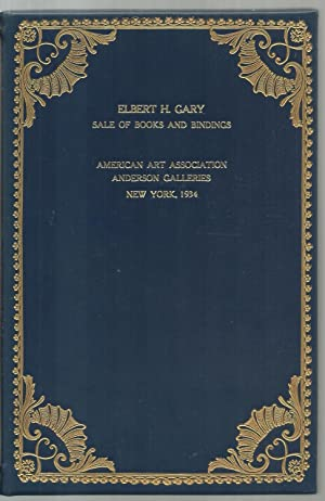Elbert H. Gary- Sales of Books and Bindings