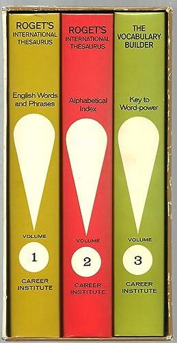 Roget's International Thesaurus - 3 Volumes Set (in a slipcase)
