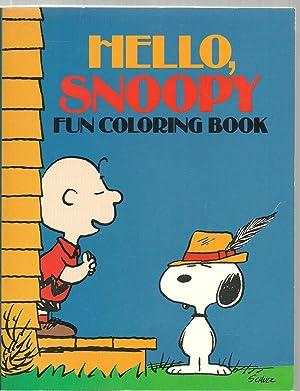 Hello Snoopy, Fun Coloring Book