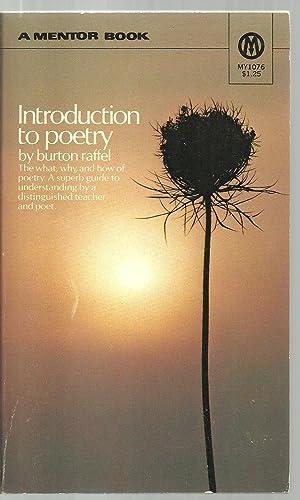 Introduction to poetry: Burton Raffel