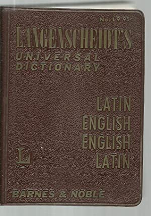 Langenscheidt's Universal Dictionary - Latin English, English