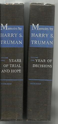 Memoirs by Harry S. Truman - 2 Volumes Set: Harry S. Truman