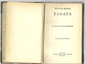 Essays, First And Second Series: Ralph Waldo Emerson