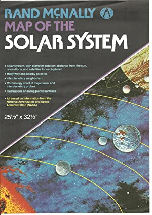 Rand McNally Map of The Solar System