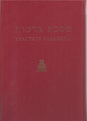 Berakoth, Hebrew-English Edition of The Babylonian Talmud: Translated into English with notes, ...