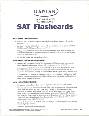SAT Flashcards, Math practice, Vocabulary and writing.