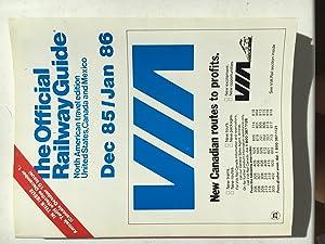 The Official Railway Guide Dec 1985/Jan 1986