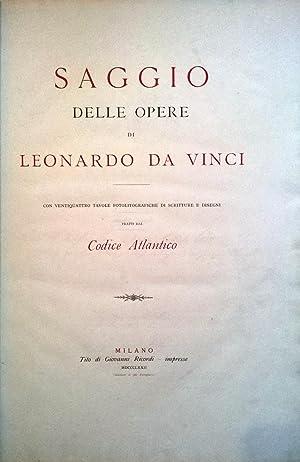 Saggio delle opere di Leonardo da Vinci.: LEONARDO da Vinci