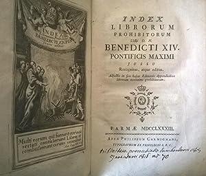 Index librorum prohibitorum. SSmi D. N. Benedicti