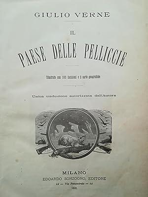Il Paese delle pelliccie.: VERNE Giulio.
