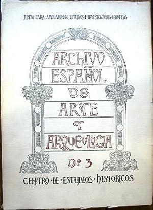 Archivo Español de Arte y Arqueología: SECCIONES DE ARQUEOLOGÍA Y DE ARTE DEL CENTRO ...