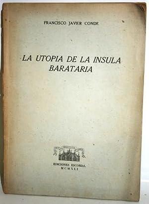 LA UTOPÍA DE LA ÍNSULA BARATARIA: CONDE, Francisco Javier