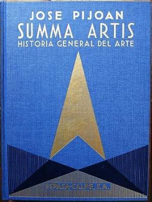 Summa Artis. Historia general del Arte. Tomo: PIJOAN, José