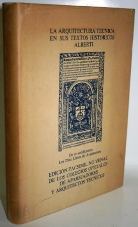 De re aedificatoria ó los diez libros: ALBERTI, Leon Batista