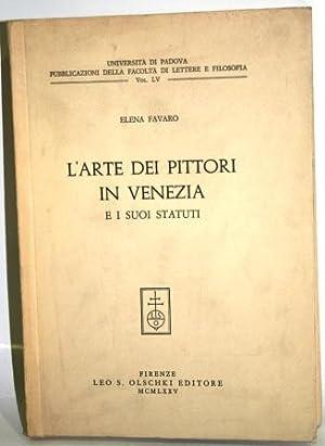L ARTE DEI PITTORI IN VENEZIA E: FAVARO, Elena