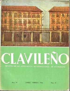 CLAVILEÑO. Año VI, nº 31, enero-febrero 1955.: Asociacion Internacional de