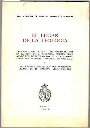 EL LUGAR DE LA TEOLOGÍA: GONZÁLEZ DE CARDENAL,