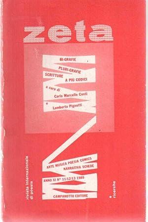 Zeta Rivista Internazionale Di Poesia e Ricerche 11-12-13 1989 Bi-Grafie, Pluri-Grafie Scritture a ...