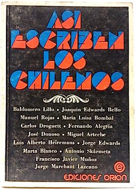 Así escriben los chilenos: Selección y Prólogo