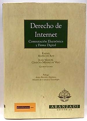 Derecho de Internet, contratación electrónica y firma: Mateu de Ros,