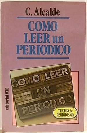 Como leer un periódico: Alcalde Garriga, Carmen